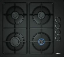 Bosch Gas Hob 23 5 8in Electric Ignition Glass Black Gas Cooktop Autark