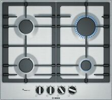 Bosch PCP6A5B90 Cooktop Gas 23 5 8in Installation Hob Autark Stainless Steel