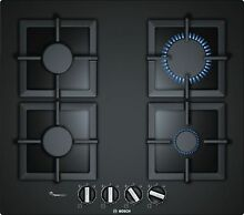 Bosch PPP6A6B20 Installation Cooktop Gas 23 5 8in Autark Glass Black Gasmulde