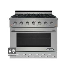 NXR SCD3611 36  5 5 cu ft  Pro Style Dual Fuel Range with Convection Oven