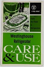 1960s Westinghouse Model RPD 31 Refrigerator Care Use Owners Manual Instructions