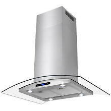 36  Island Mount Stainless Steel Range Hood Kitchen Stove Vent LED Touch Control