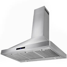 36  Wall Mount Kitchen Stainless Steel Range Hood w  LED Display Touch Control