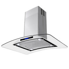 36  Island Mount Stainless Steel Range Hood Vent  w Removable Filter