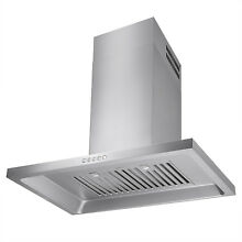 MODERN KITCHEN 30  STAINLESS STEEL WALL MOUNT RANGE HOOD STOVE VENTILATION