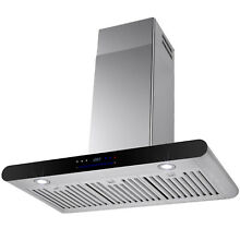 30  Wall Mount Stainless Steel Range Hood Stove Vent Exhaust Touch Control Panel
