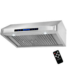 36  Stainless Steel Under Cabinet Range Hood Kitchen Stove Vent   Baffle Filters