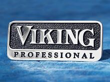 Viking Professional OEM 3  Metal Emblem Logo Badge Self Adhesive Nameplate Trim