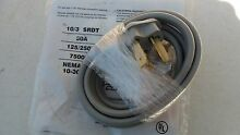 New 3 Prong Electric Dryer Suppy Power Cord 250 Volt 30 Amp 6 Feet Long