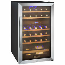 Allavino 29 Bottle Wine Cooler Refrigerator Stainless Steel Glass Door Dual Zone