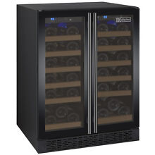 FlexCount Series 36 Bottle Dual Zone Wine Refrigerator with Black Doors