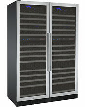 Allavino 344 Bottle Built In Wine Cooler Refrigerator Stainless Steel Four Zone