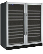 Allavino 256 Bottle Built In Wine Cooler Refrigerator Stainless Steel Dual Zone