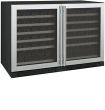 Allavino 112 Bottle Built In Wine Cooler Refrigerator Stainless Steel Dual Zone