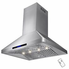 36  Stainless Steel Island Range Hood Kitchen Cooking Stove Vent   Fan   Exhaust