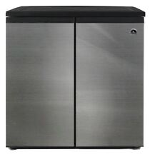 Refrigerator Freezer Mini Chiller Cooler 2 Door Side By Side Stainless Steel NEW