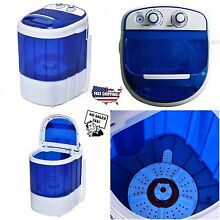 Mini Portable Washing Machine Compact Washer Spin Dryer RV Dorm Laundry Timer