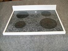 31721505WW AMANA RANGE OVEN MAIN TOP GLASS COOKTOP WHITE
