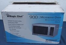 Magic Chef 900W Countertop Microwave Oven 0 9 cu  ft  Stainless Steel MCM990ST