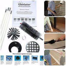 10 Pieces Dryer Vent Cleaning System Commercial Duct Cleaning Equipment Kit
