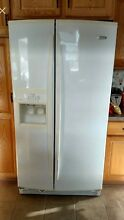 White Whirlpool Kitchen Set  Includes Fridge  Microwave  Dishwasher and Stove