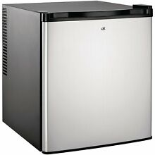 Culinair Af100s 1 7 Cubic Foot Compact Refrigerator  Silver and Black