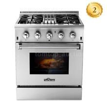30  Gas Range 4 Burner Dual Fuel Electric Oven Stainless Steel Cooktop O9F0