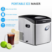 Stainless Steel Ice Maker Countertop 48lb Per Day Freestanding Portable Icemaker