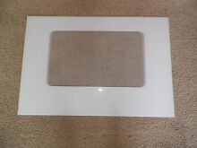 WP8053834 Kenmore Whirlpool Range Oven Outer Door Glass 20 1 8  x 29 7 16  White