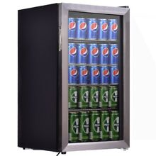 3 35 Cu  Ft 120 Can Mini Beverage Refrigerator Cooler Soda Beer Stainless Steel