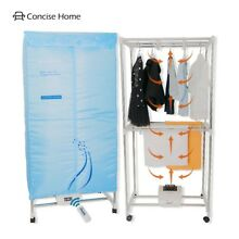 Concise Home Electric Clothes Dryer Stainless Steel Indoors Tri Layers Fast Air