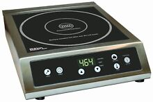 Max Burton Procehf   1800 Stainless Steel Electric Commercial Induction Cooktop