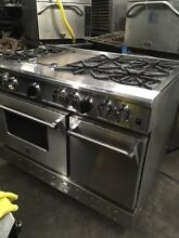 Natural Gas RANGE   6 BURNERS   12  GRIDDLE   2 OVENS  Larger is CONVECTION