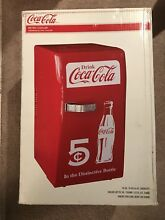 Coca Cola Retro Mini Refrigerator  Personal Countertop Coke Dorm Compact Fridge
