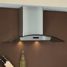 Signature Hardware 36  Compass Series Stainless Steel Wall Mount Range Hood