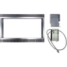 30 In  Built In Trim Kit for Sharp Microwave R651ZS   Stainless Steel