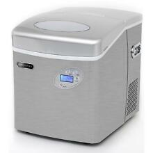 Whynter Portable Ice Maker with 49lb Capacity Stainless Steel with Water Connect