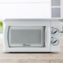 Small Microwave Oven Low Profile Compact White Kitchen Counter Dorm Room Cooker