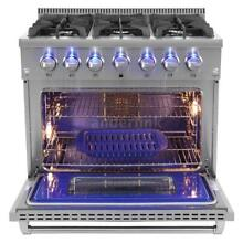 HOT Stainless Steel 36  6 Burner Gas Range Free Standing 2 Years Warranty J6S8