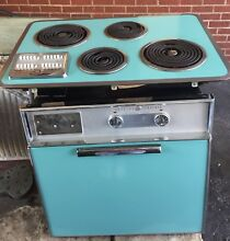 GE WALL OVEN AND STOVE TOP BEAUTIFUL TURQUOISE 1960 S COLOR RETRO KITCHEN