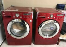 LG  Bundle   SteamWasher 3 6 cu  ft AND LG SteamDryer 7 3 cu  ft Cherry Red
