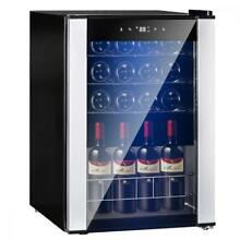 19 Bottles Wine Refrigerator Wine Cooler Cellar Quiet Operation With LED Display