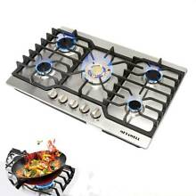 Cooker Stoves Cooktops 30  Stainless Steel Gold Built in 5 Burner NG LPG Gas Hob
