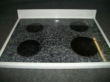 316734WW AMANA RANGE OVEN MAIN TOP GLASS COOKTOP WHITE