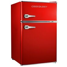 Cookology RETRO86RD 1950 s Undercounter Fridge Freezer in Retro Red  50cm wide