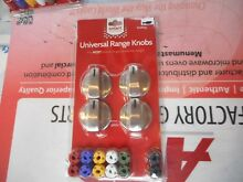 Universal Stove knob kit Stainless  knobkit4s  New In Package Free Shipping