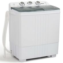 Apartment Washing Machine 11lbs Capacity Spin Dryer Small Compact Della Twin Tub