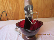 JENN AIR ATTREZZI HEAVY DUTY STAINLESS MIXER WITH RED RUBY BOWL