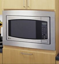 GE JX2130SH 30  Deluxe Built In Trim Kit for 2 1 Cu  Ft  Microwave Oven