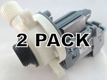 2 Pk  Washing Machine Drain Pump for Whirlpool  Sears  AP4514539  W10276397